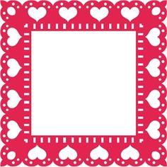 Silhouette Design Store: heart border frame