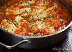 Skillet Cajun Spiced Flounder with Tomatoes | Skinnytaste