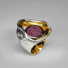 Type: Ring Material: Silver 925 Gem: Ruby Plating: White rhodium, gold G. Gem Ruby, Gold G, Ruby Rings, Gabriel, Plating, German, Candy, Type, Silver