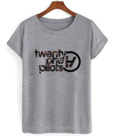 Floral twenty one pilots logo T shirtcustomize your personalized tshirt Tshirt Pre-Shrunk 100% cotton. FULLY MACHINE WASHABLE. Made To Order. We use DTG Techno