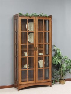 Amish Fancy Mission Curio Cabinet
