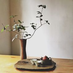 I love the aesthetic of using a rustic wood board for a tea tray! Will use for my tea ceremony Zen Tea, Sogetsu Ikebana, Different Types Of Tea, Asian Tea, Tea Culture, Japanese Tea Ceremony, Tea Tray, China, Tea Accessories