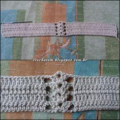 Cris Crochê com Amor: TOP CROPPED DE CROCHÊ COM PASSO A PASSO Crochet Shorts Pattern, Crochet Halter Tops, Crochet Bikini Top, Bikini Pattern, Knit Crochet, Crochet Patterns, Crochet Crafts, Crochet Projects, Free Crochet