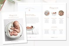 Photography Bi-Fold Pricing Brochure by By Stephanie Design on Photography Brochure, Photography Pricing, Photography Marketing, Lifestyle Photography, Bi Fold Brochure, Brochure Design, Brochure Template, Creative Brochure, Creative Flyers