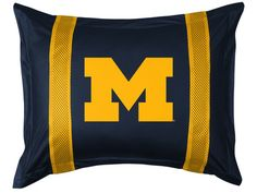 Michigan Wolverines Sidelines Pillow Sham, starting at $ 26.95 at MySportsDecor.com. Great for your bedroom, a kid's bedroom, or a dorm room.. http://www.mysportsdecor.com/michigan-wolverines-sidelines-pillow-sham.html... #michiganwolverines #k michiganwolverinesbedding # michiganwolverinessidelinespillowsham