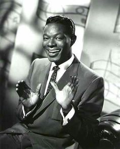 """Nat King Cole Died of Lung cancer. He was a singer, musician, Jazz pianist with a baritone voice. Which made it so he song/played with Big Band and Jazz genres. He was the black person that hosted his own variety show """"The Nat King Cole Show"""". Nate King Cole, Nat King, Billy Holiday, Critique Cinema, Looks Hip Hop, M Anime, Psychedelic Rock, Jazz Musicians, Jazz Blues"""