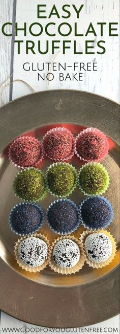 Learn how to make this easy chocolate truffles recipe. It's naturally gluten-free and tastes amazing. No need for store bought truffles anymore! Easy Gluten Free Desserts, Best Gluten Free Recipes, Gluten Free Treats, Healthy Recipes, Brownies, Gluten Free Chocolate, Chocolate Recipes, Fudge, Pudding