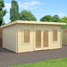 Waltons 5m x 4m Willamette Wooden Garden Log Cabin