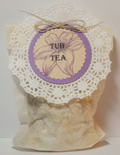 """I just purchased my 1st """"Willow and Sage"""" magazine from Stampington and Company, and was inspired to create these tub teas. I have details on my blog. http://karenismyangel.blogspot.com/"""