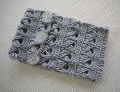 #Crochet broomstick lace collar or scarf on @speckless free pattern.