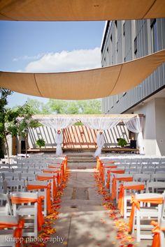 Wedding in the courtyard at Hotel Indigo-Athens