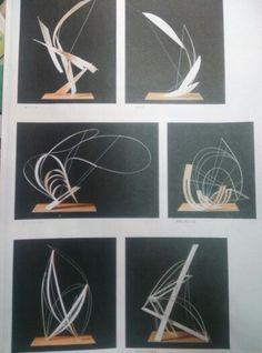조형 Line Sculpture, Abstract Sculpture, Art Alevel, Cardboard Sculpture, Mind The Gap, Up Book, Paper Artwork, Recycled Art, Wire Art