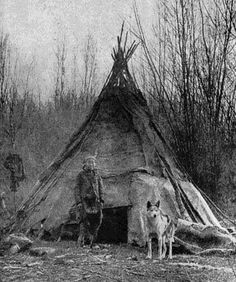 One of the earliest photos showing a Native American with a wolf - unlike the myths created about wolves by settlers, Indians maintained a close and respectful relationship with wolves