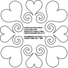quilting motifs - Google Search - Hearts around the block