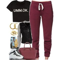 A fashion look from December 2014 featuring Forever 21 tops, LA: Hearts activewear pants and NIKE shoes. Browse and shop related looks.