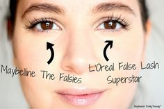 Battle of the False Lash Mascara | Stephanie's Daily Beauty @Maybelline @L'Oreal