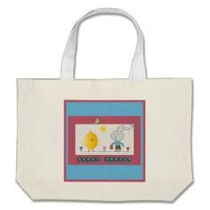 A Cheerful Easter, Cute chicken and Bunny Bag  http://www.zazzle.com/a_cheerful_easter_cute_chicken_and_bunny_bag-149470673858352516