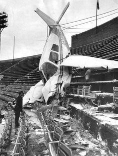 Donald Kroner buzzed the field, then crashed in the upper deck at Memorial Stadium minutes after the Pittsburgh Steelers demolished the Colts, in a playoff game December (Lloyd Pearson/Baltimore Sun) Baltimore Colts, Baltimore Maryland, Pittsburgh Steelers, Image Avion, Sun Photo, Historical Pictures, Old Photos, Images, History