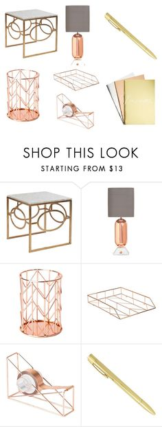 """""""Rose gold stuff"""" by katelynauyeung on Polyvore featuring interior, interiors, interior design, home, home decor, interior decorating, Jonathan Adler and U Brands"""