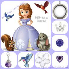 Order a Sophia inspired Living Locket for your little princess.www.dianepeters.origamiowl.com
