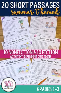 Ready for some summer fun? These passages will keep your students engaged in reading nonfiction and fictional passages with this end of year resource.