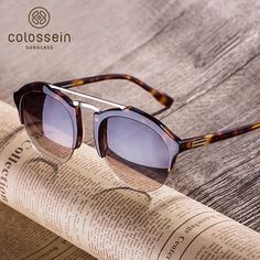 3bae9a3e5252 COLOSSEIN Fashion Sunglasses Women Men Summer Vintage Holiday Cat Eye Style  Round Glasses 2017 New Popular