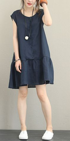More Than 100 Casual Loose Linen Dresses Women's Summer Outfits Q Casual Dresses. More Than 100 Casual Loose Linen Dresses Women's Summer Outfits Q Casual Dresses ausstattungen Casual Dress Outfits, Summer Fashion Outfits, Summer Dresses For Women, Trendy Dresses, Simple Dresses, Women's Fashion Dresses, Dress Summer, Loose Dresses, 90s Fashion