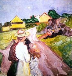 Midsummer Night; Eve Edvard Munch - 1901-1903