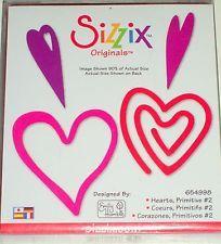 Sizzix Originals.  Hearts, Primitive #2.  [654998].