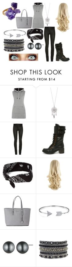 """""""Iyana, daughter of Athena"""" by marinabean2 ❤ liked on Polyvore featuring T By Alexander Wang, Report, claire's, Michael Kors, Bling Jewelry, Anne Klein and Helix & Felix"""
