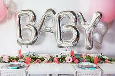 Find more information on baby shower decor -> While your baby shower is sure to be beautiful, it can also be very stressful. These article below provides you with some advice to make your baby shower event process less stressful. Baby Shower Planner, Fiesta Baby Shower, Baby Shower Niño, Shower Bebe, Baby Shower Brunch, Floral Baby Shower, Baby Shower Gender Reveal, Shower Party, Baby Shower Parties