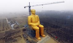 The giant statue of Mao Zedong in Tongxu county in Henan province.