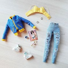 Diy Barbie Clothes, Girls Fashion Clothes, Cute Comfy Outfits, Chic Outfits, Fashion Royalty Dolls, Fashion Dolls, Juste Zoe, Hello Barbie, Barbie Camper