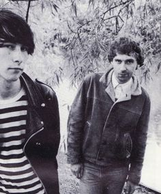 Bobby Gillespie and Jim Beattie of Primal Scream, 1985