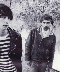 Bobby Gillespie & Jim Beattie of Primal Scream, 1985