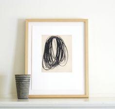 Etching Print . Modern Wall Art: Timing (in Black). $45.00, via Etsy.
