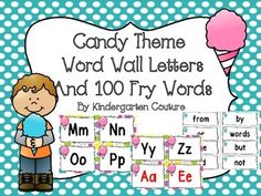 Here are some Candy Theme Word Wall Letters to go with your Candy Theme ClassroomAll consonant letters are in black. I made vowels in black and red.The first 100 Fry Words are also included!!Coordinating Products:Candy Theme Ten Frame PostersCandy Theme Behavior Clip ChartCandy Theme Classroom rules Candy Theme Desk PlatesMore Candy Theme items to come in a few weeks.