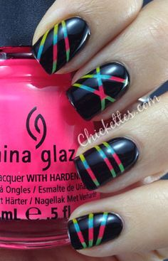 Colorful Laser Beam Manicure