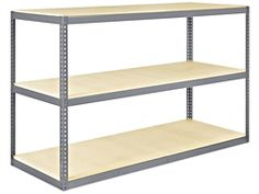 """Wide Span Storage Rack - Particle Board, 96 x 36 x 60"""" H-2204"""