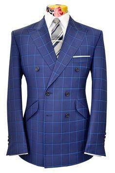 The Mollison Persian Blue Suit with Sapphire Blue & Indigo Overcheck