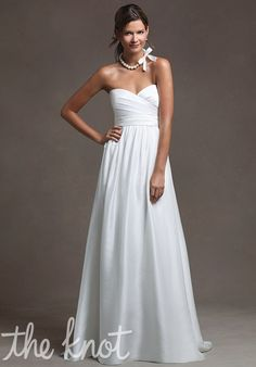 I love this style for bridesmaids, not so much as an actual wedding dress, but it is stunning