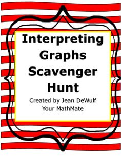 Interpreting Graphs Scavenger Hunt Activity- Using this packet students will be up and moving while they learn about box plots, line plots, histograms, and stem and leaf plot with this scavenger hunt activity. Graphing Activities, Class Activities, Teacher Resources, Numeracy, Math Stations, Math Centers, Math Classroom, Math Math, Classroom Ideas
