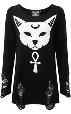 Killstar Gothic Purrfect Knitted Sweater