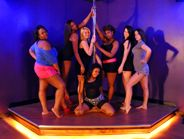 A pole dance party at Urban Studio in Nashville, TN - the perfect bachelorette party outing! www.NashvillePoleParty.com
