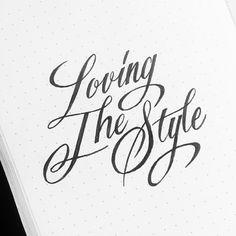 Loving the style… #calligrafikas #brushpen