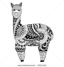 Image Result For Llama Mandala Designs Coloring Books Zentangle Designs Coloring Pages