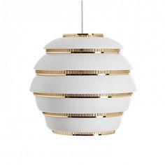 modern interior design: Beehive by Artek - Beehive Pendant Light - Artek Lamp by Alvar Aalto Alvar Aalto, Home Lighting, Modern Lighting, Lighting Design, Modern Lamps, Lighting Ideas, Lighting Direct, Custom Lighting, Industrial Lighting