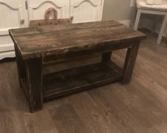 Smaller Rustic custom built 32 inch coffee table