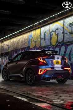 Beth's modified Toyota C-HR has Autobeam grille lights, fog halos and neons, offering thousands of light variations to choose from.   Click to find out more. #Toyota #ToyotaPeople #C-HR #CHR #ToyotaCHR #ToyotaC-HR #SUV #Modified #Cars #ModifiedCars  #Crossover #CompactSUV #FamilySUV #NewCars #CarDesign #Purple #Blue #CarPhotography #Hybrid #HybridSUV Family Suv, Toyota Hybrid, Uk Magazines, Toyota C Hr, Compact Suv, Trd, Modified Cars, Car Photography, Car Lights