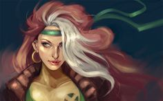 Rogue (X-Men) Image - Zerochan Anime Image Board Marvel Women, Marvel Girls, Comics Girls, Marvel Dc Comics, Gambit X Men, Rogue Gambit, Man Character, Comic Character, Comic Books Art